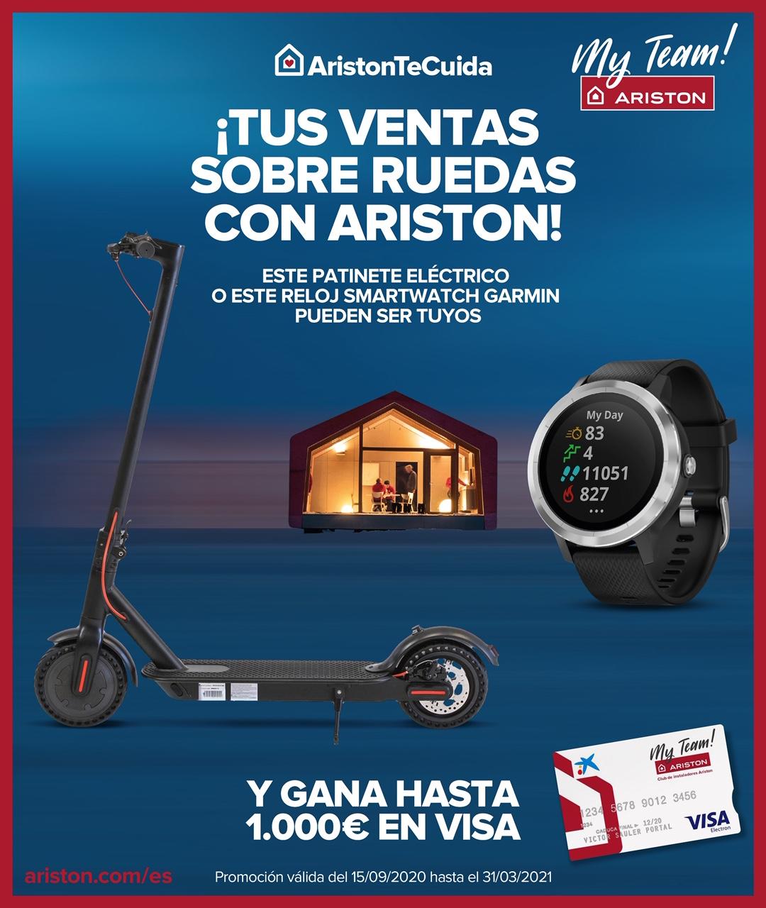 Promoción especial calefacción: ¡tus ventas sobre ruedas con ARISTON!