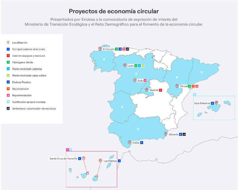 ENDESA promueve la economía circular a través de 17 proyectos con una inversión asociada de 3.600 mill. €