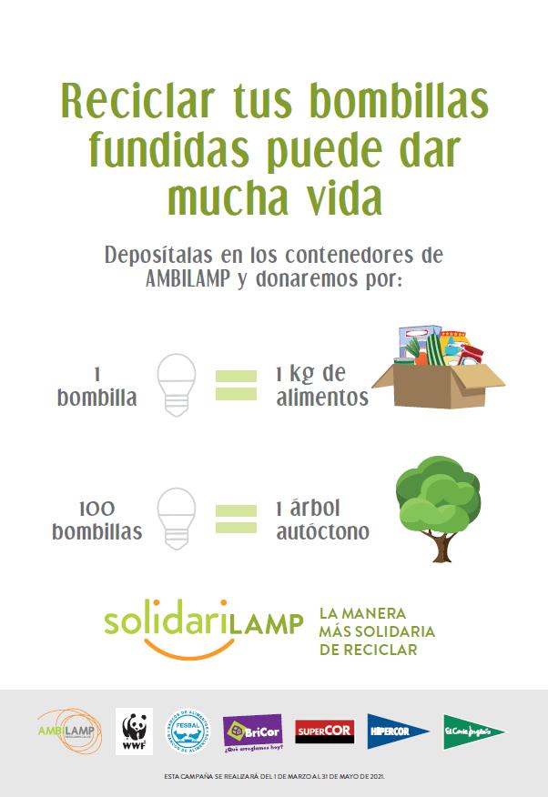 AMBILAMP lleva 'solidarilamp' a El Corte Inglés, Hipercor, Supercor y Bricor para fomentar el reciclaje de residuos de la iluminación
