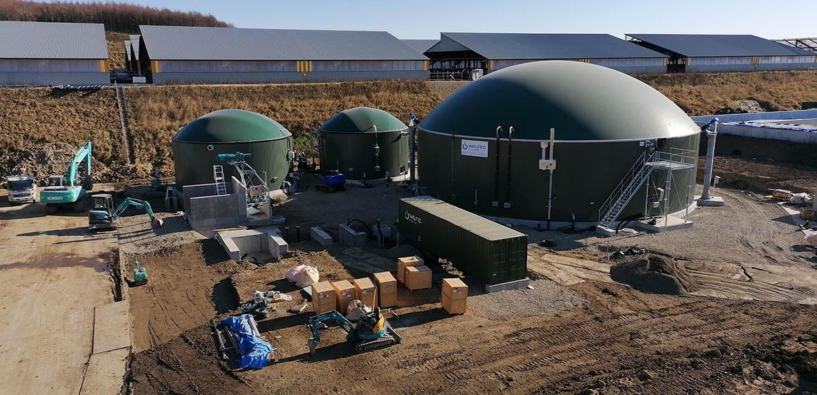 WELTEC BIOPOWER construye dos plantas de biogás en Japón