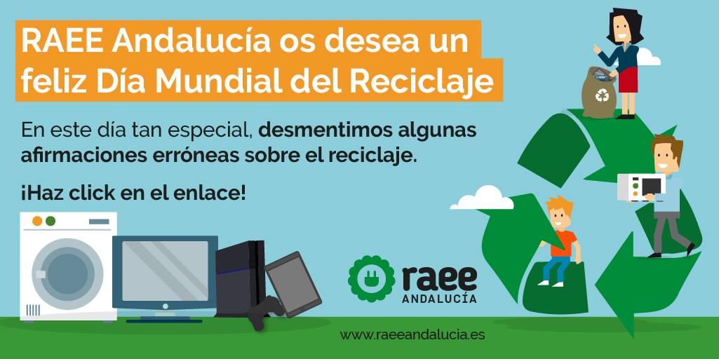 RAEE Andalucía recuerda  la importancia de un correcto reciclaje de aparatos eléctricos y electrónicos