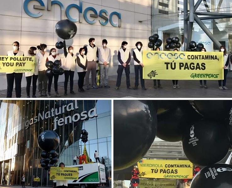 Greenpeace inicia la denuncia para exigir a las eléctricas la devolución de 1.500 a 2.800 M€ a los consumidores