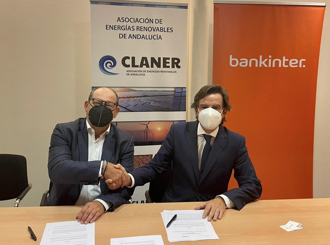 Bankinter y CLANER firman un acuerdo para financiar proyectos de energías renovables
